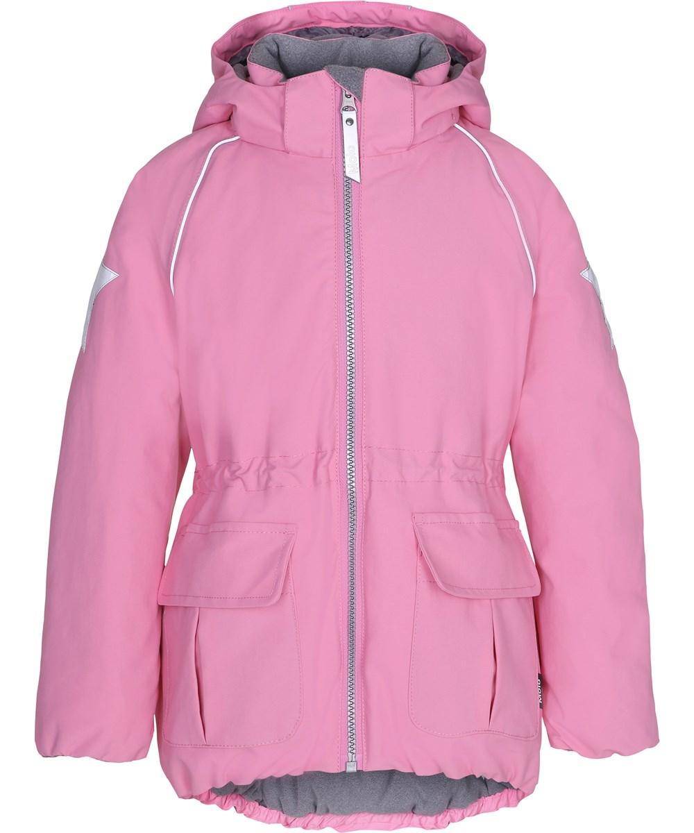 Vrouwelijke Winterjas.Cathy Total Pink Roze Sportieve Vrouwelijke Winterjas Molo