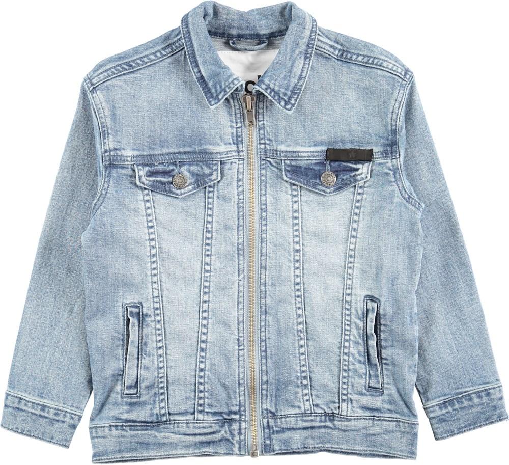 Hansen - Hv_Washed Denim - Light blue denim jacket in a washed look
