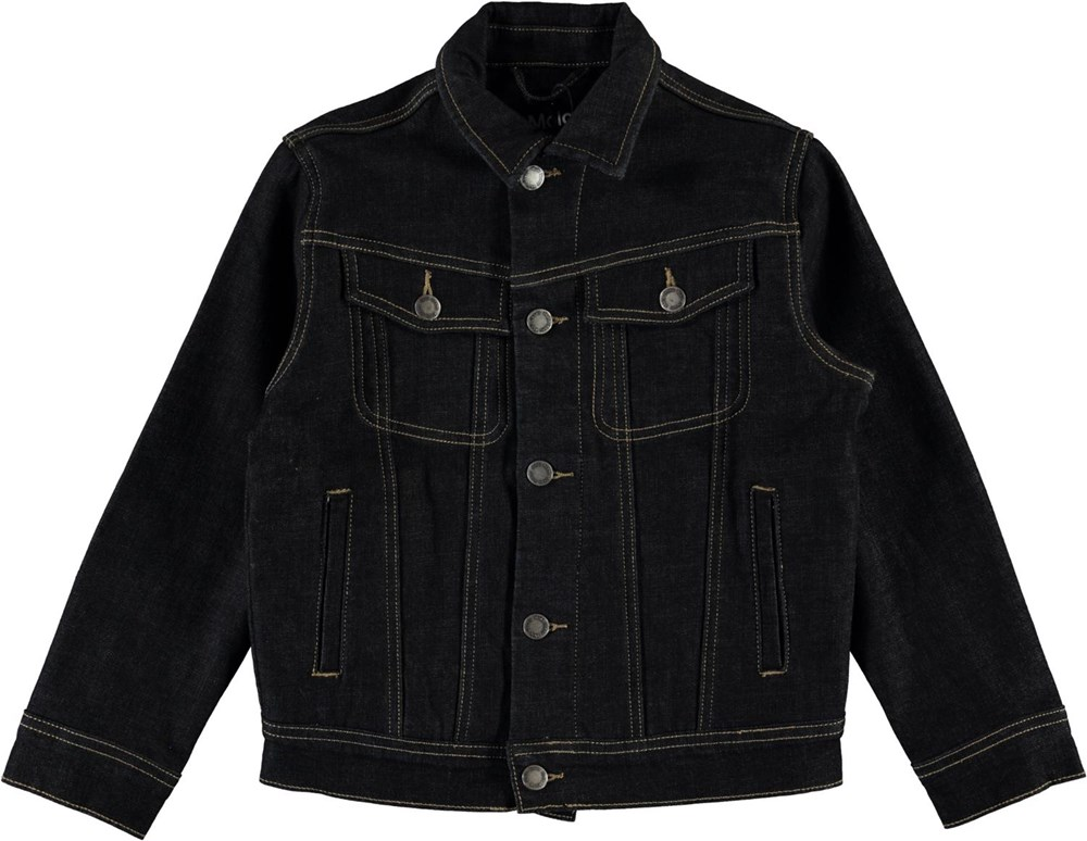 Harald - Dark Indigo - Dark blue denim jacket