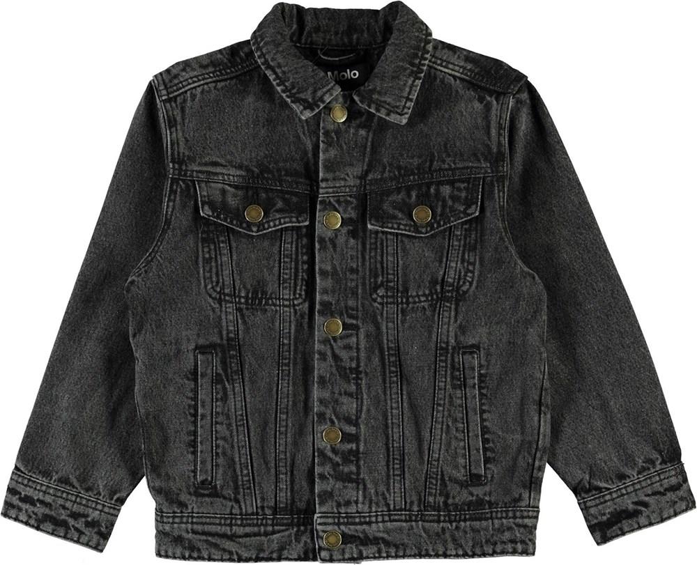 Harald - Washed Black - Dark grey denim jacket