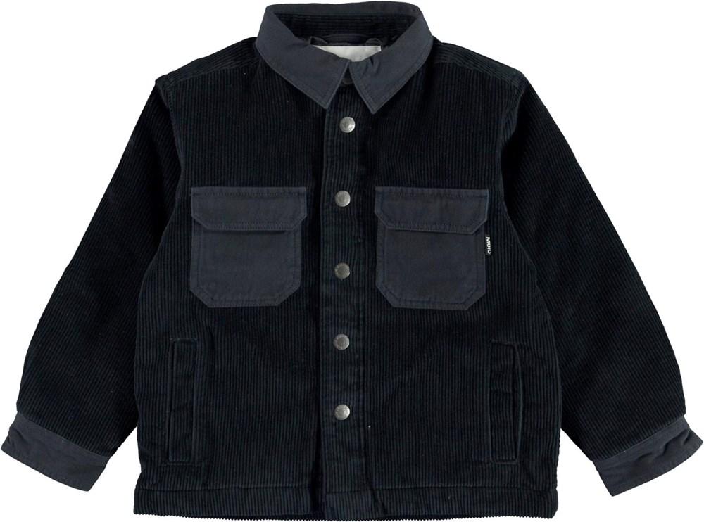 Henley - Dark Navy - Dark blue overshirt jacket in corduroy