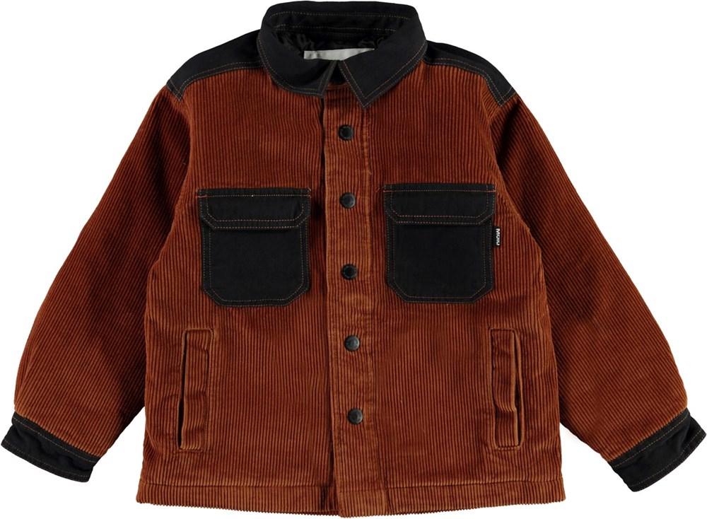 Henley - Iron - Brown overshirt jacket in corduroy