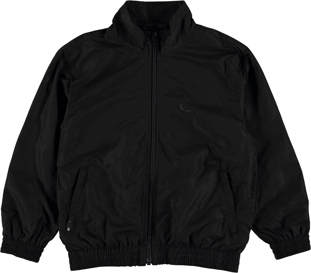 Hermos - Black - Black sporty jacket.