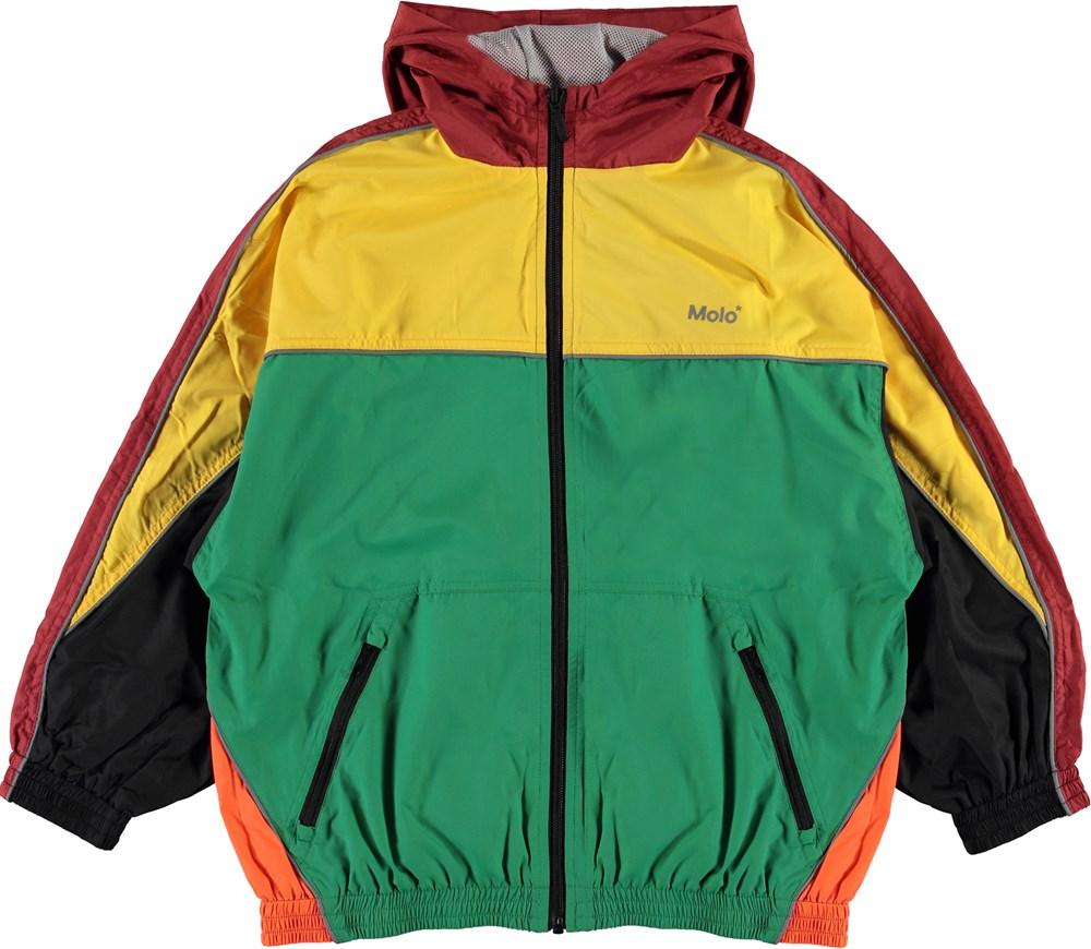 Miirto - Moonlight Leaf - Colour-blocked track jacket