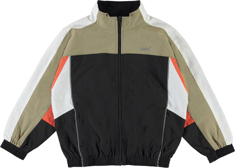 Molton - Black - Beige and black sports jacket with white