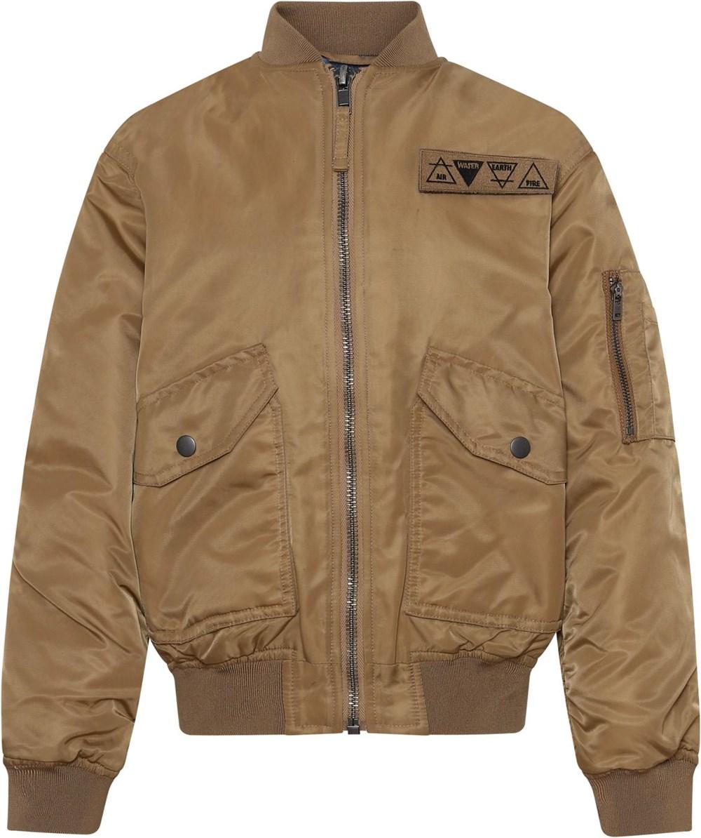 Heath - Sandstone - Brown pilot jacket with large pockets