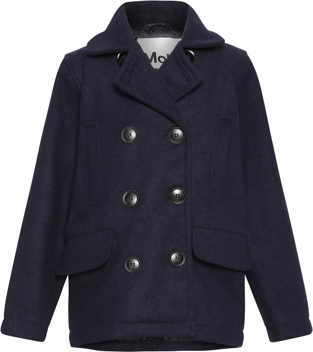 Horatio - Dark Navy - Dark blue jacket with buttons and lapel