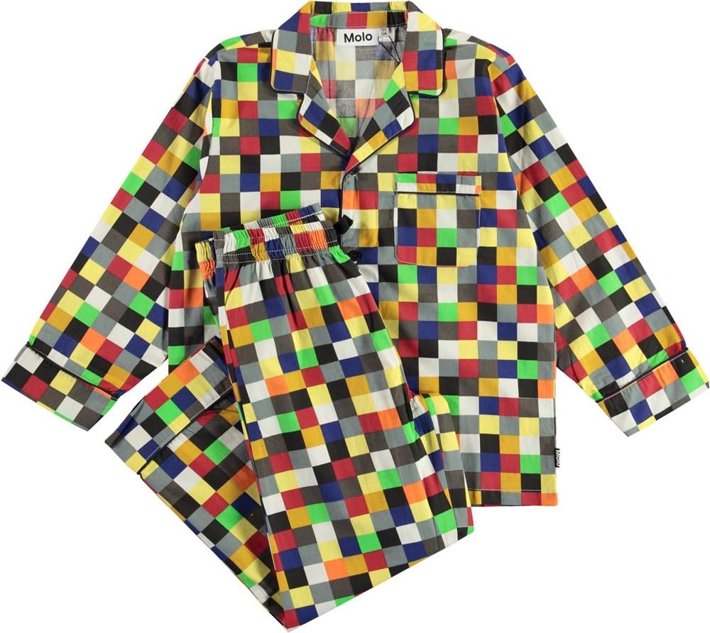 Lex - Pixels - Plaid organic pyjamas