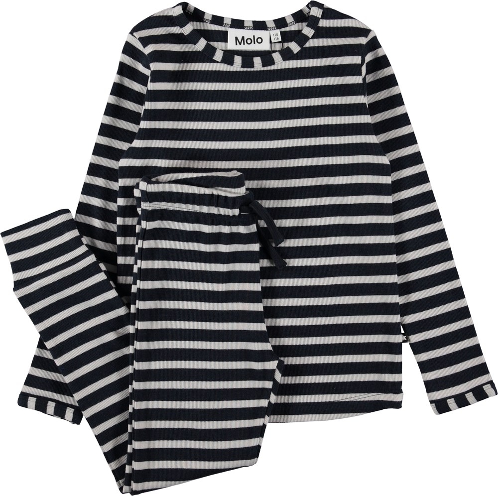 Luve - Carbon - Nightwear with stripes.