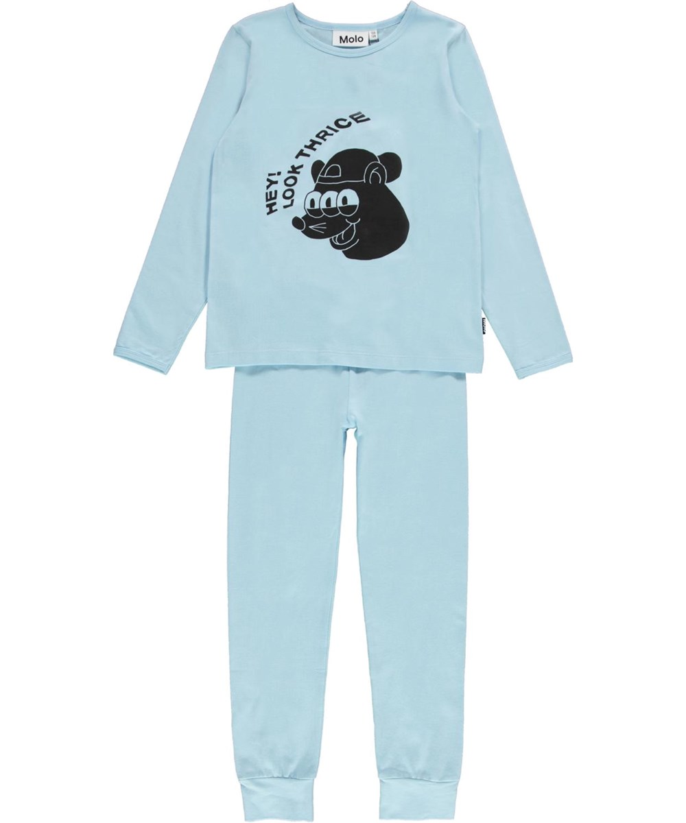 Luve - Cool Blue - Light blue sleepwear with print