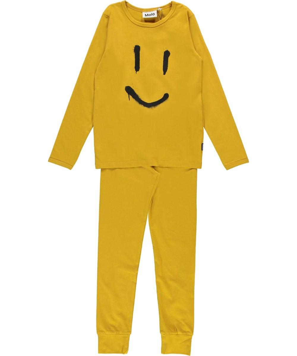 Luve - Nugget Gold - Yellow organic smiley sleepwear