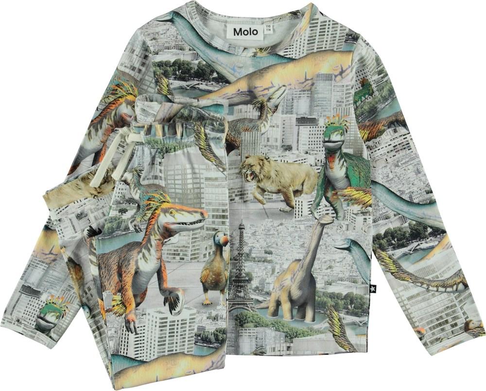Luve - Revival Animals Small - Pyjamas set with dinosaur print.