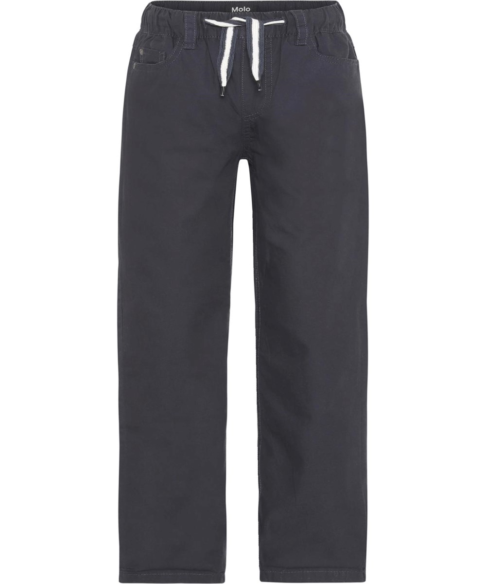 Abe - Dark Navy - Dark blue, lined trousers