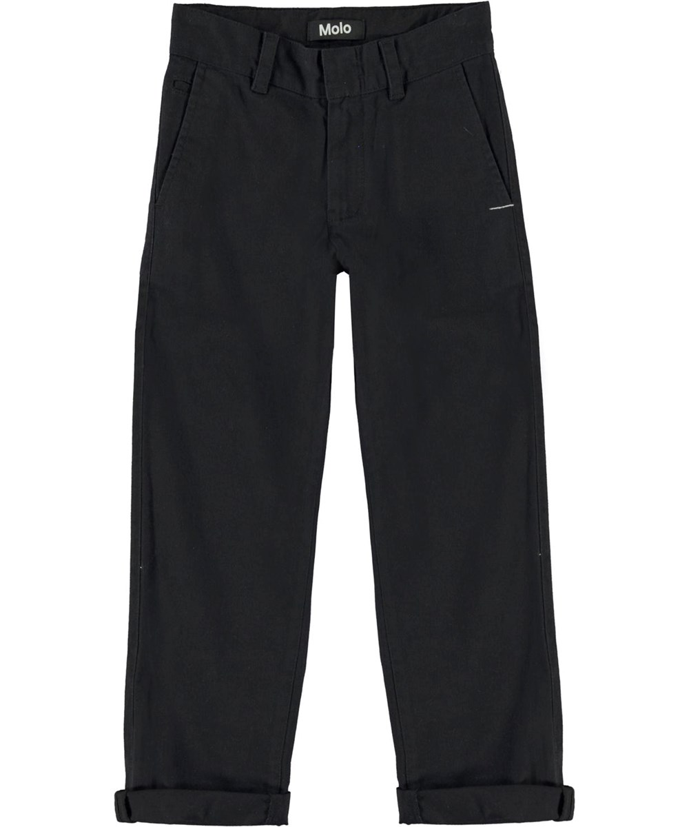 Ace - Black - Black chino trousers