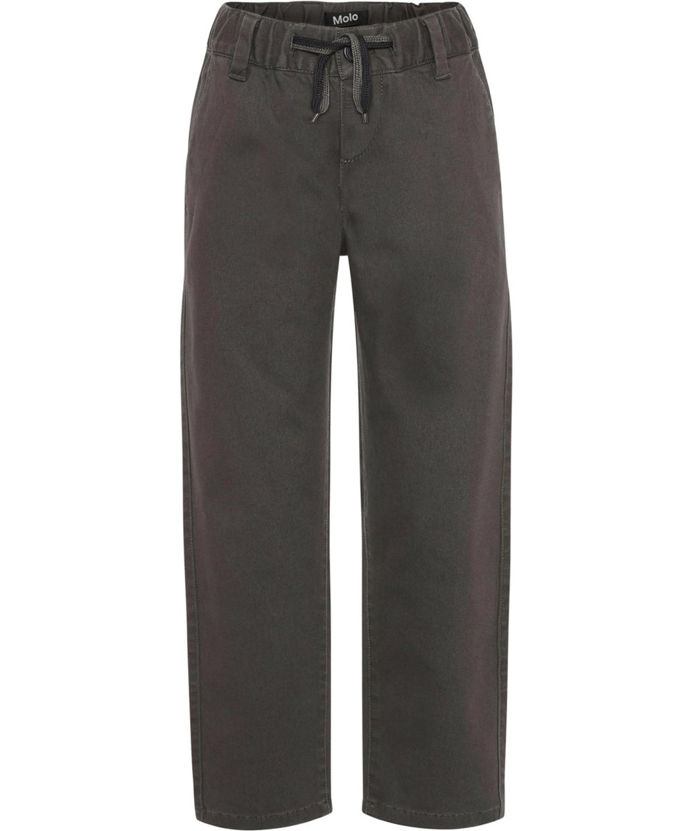 Aesy - Beluga - Brown chino trousers with ties