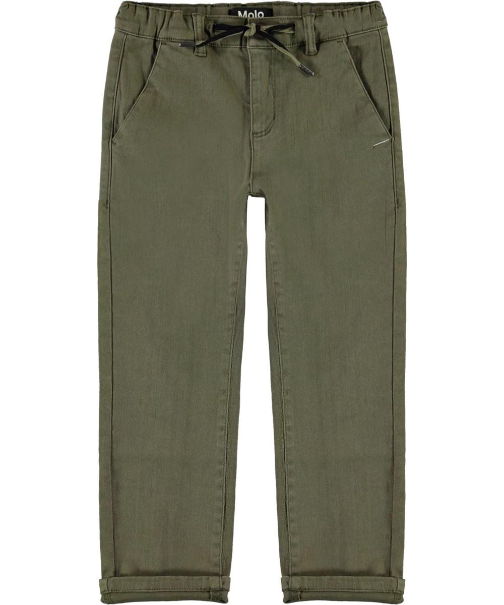 Aesy - Vegetation - Khaki green chino trouser
