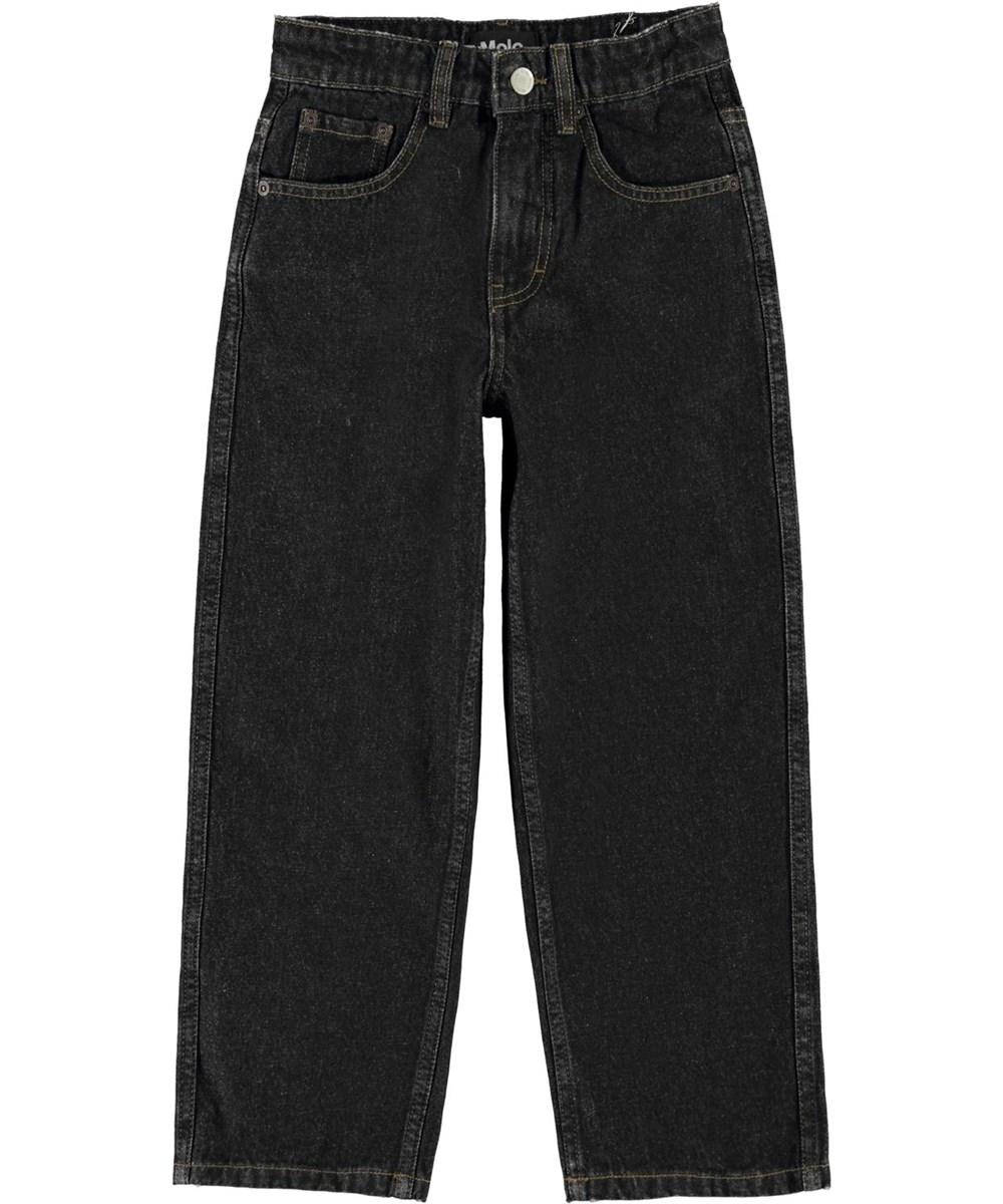 Aiden - Black Denim - Wide, black skate jeans