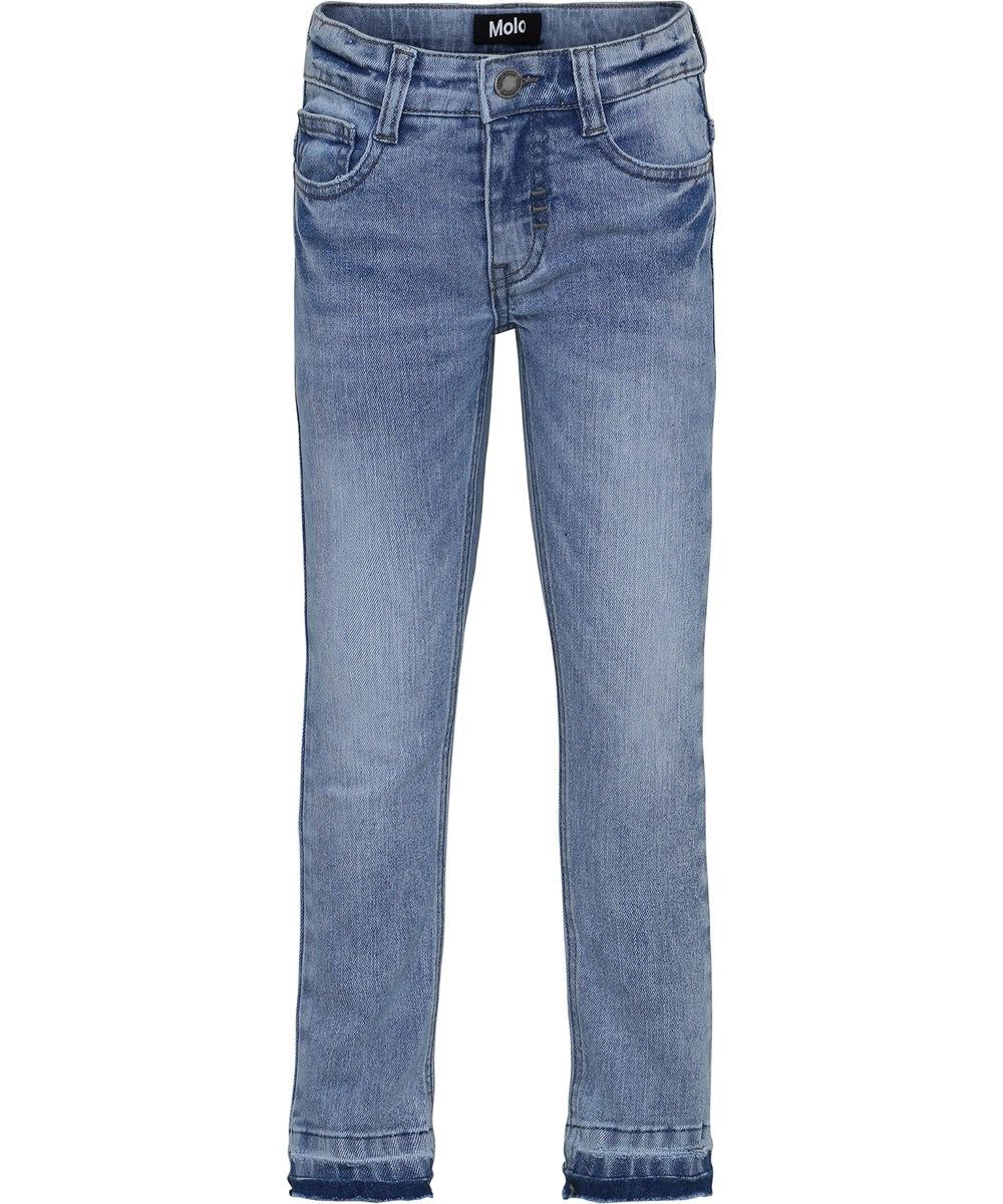 Aksel - Ash Blue - Blue slim denim jeans.