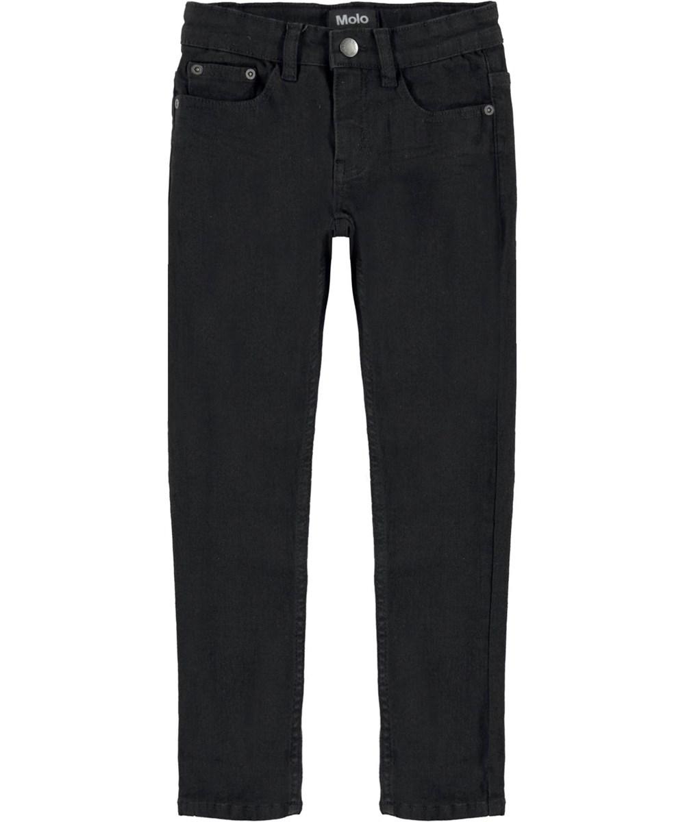 Aksel - Black - Slim fit black jeans