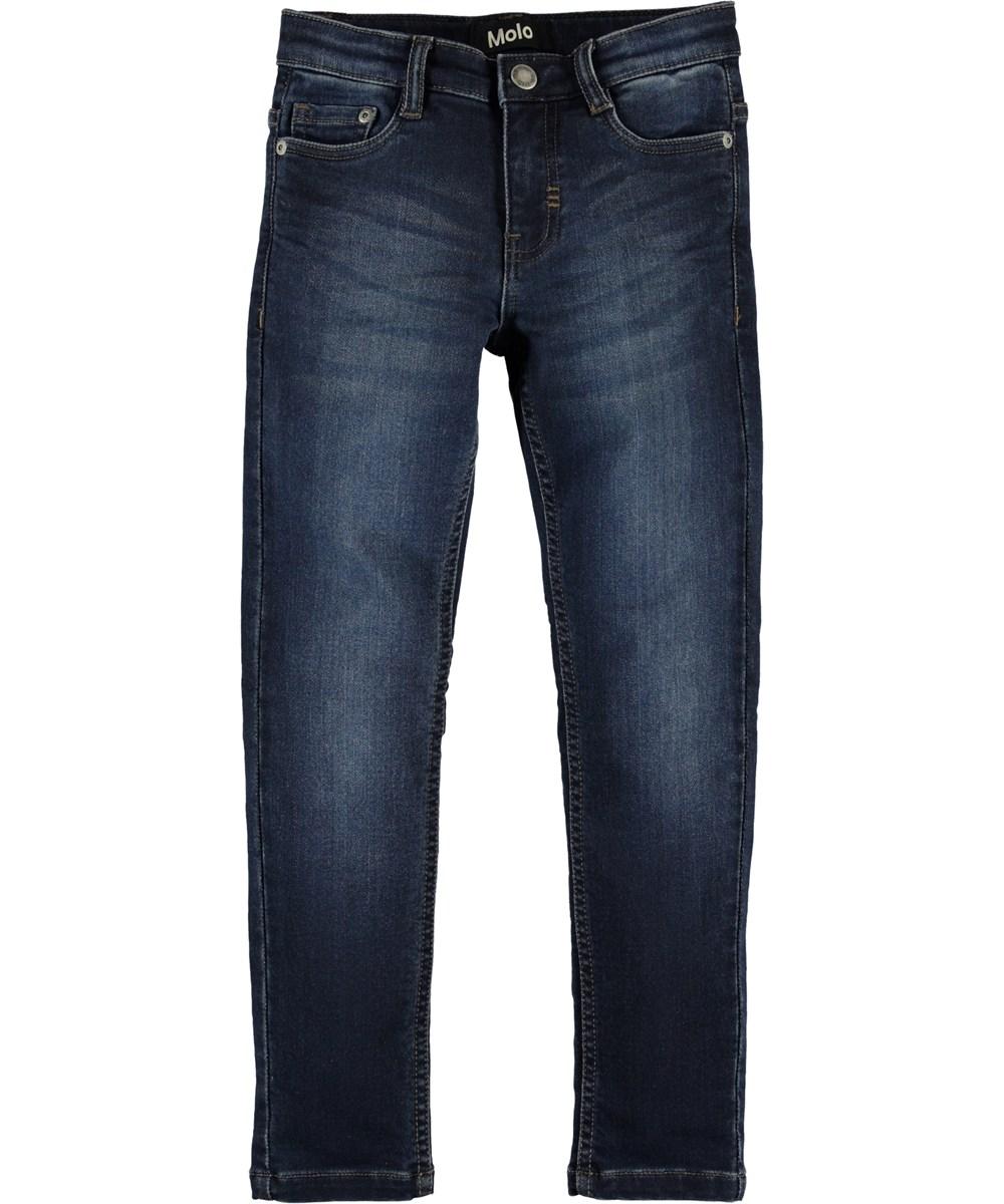 Aksel - Dark Indigo - Indigo blue denim jeans