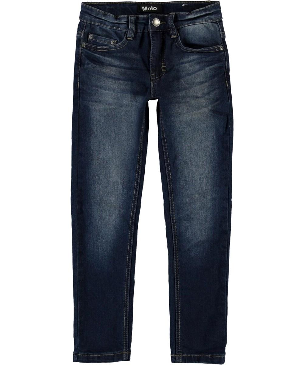 Aksel - Dark Indigo - Slim fit dark blue jeans