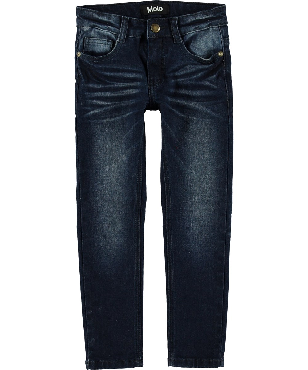 Aksel - Dark Indigo - Dark blue slim fit jeans.