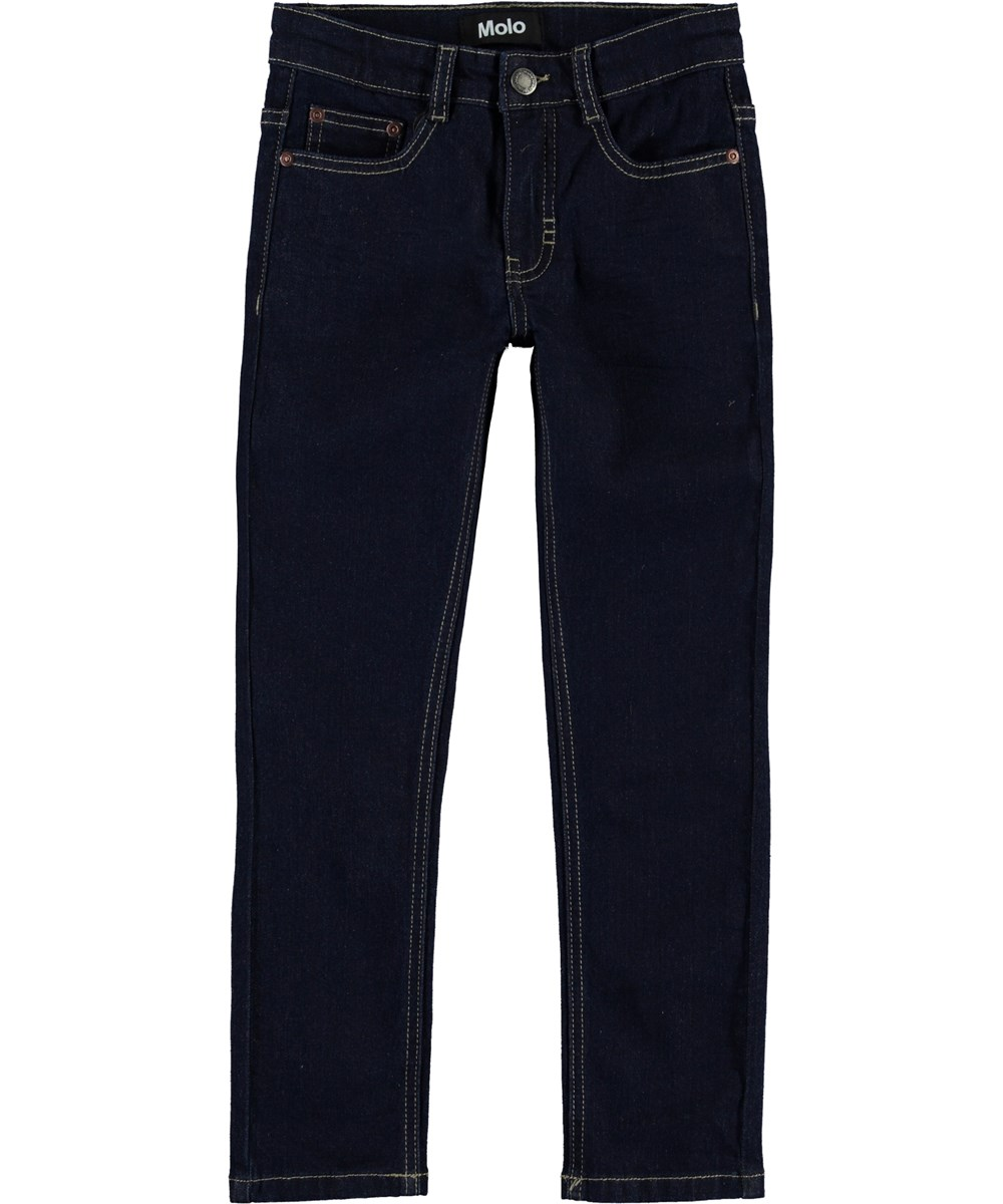 Aksel - Rinse Wash - Dark blue slim jeans