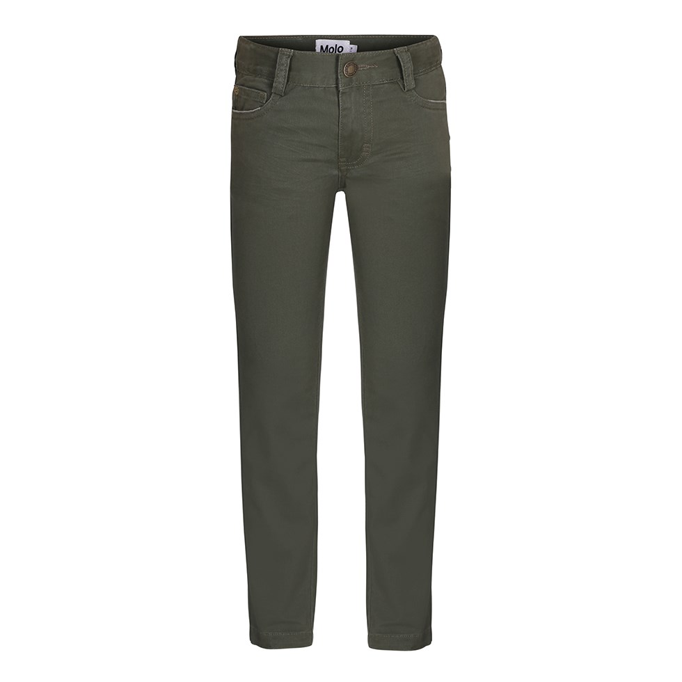 Aksel - Seaweed - Green slim fit jeans