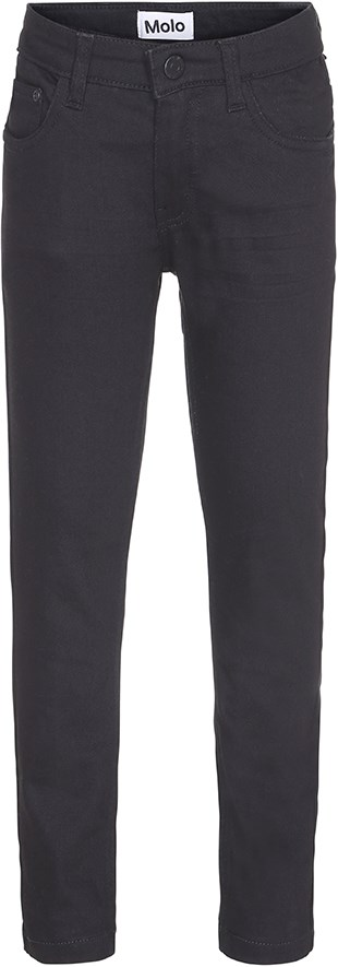 Aksel - Black - Black slim fit jeans with pockets
