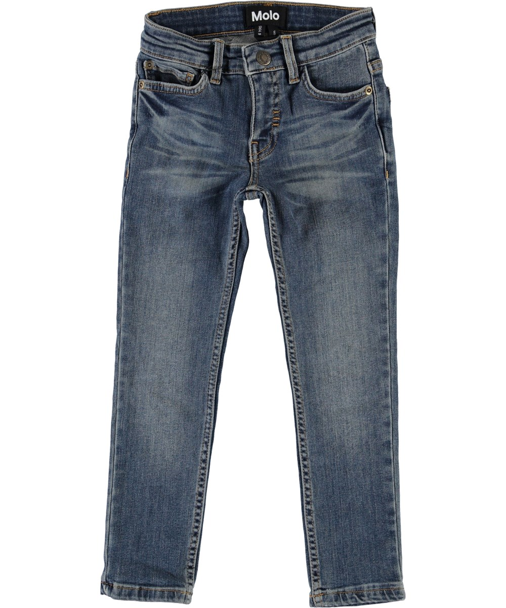 Aksel - Hv_Washed Denim - Blue washed jeans.