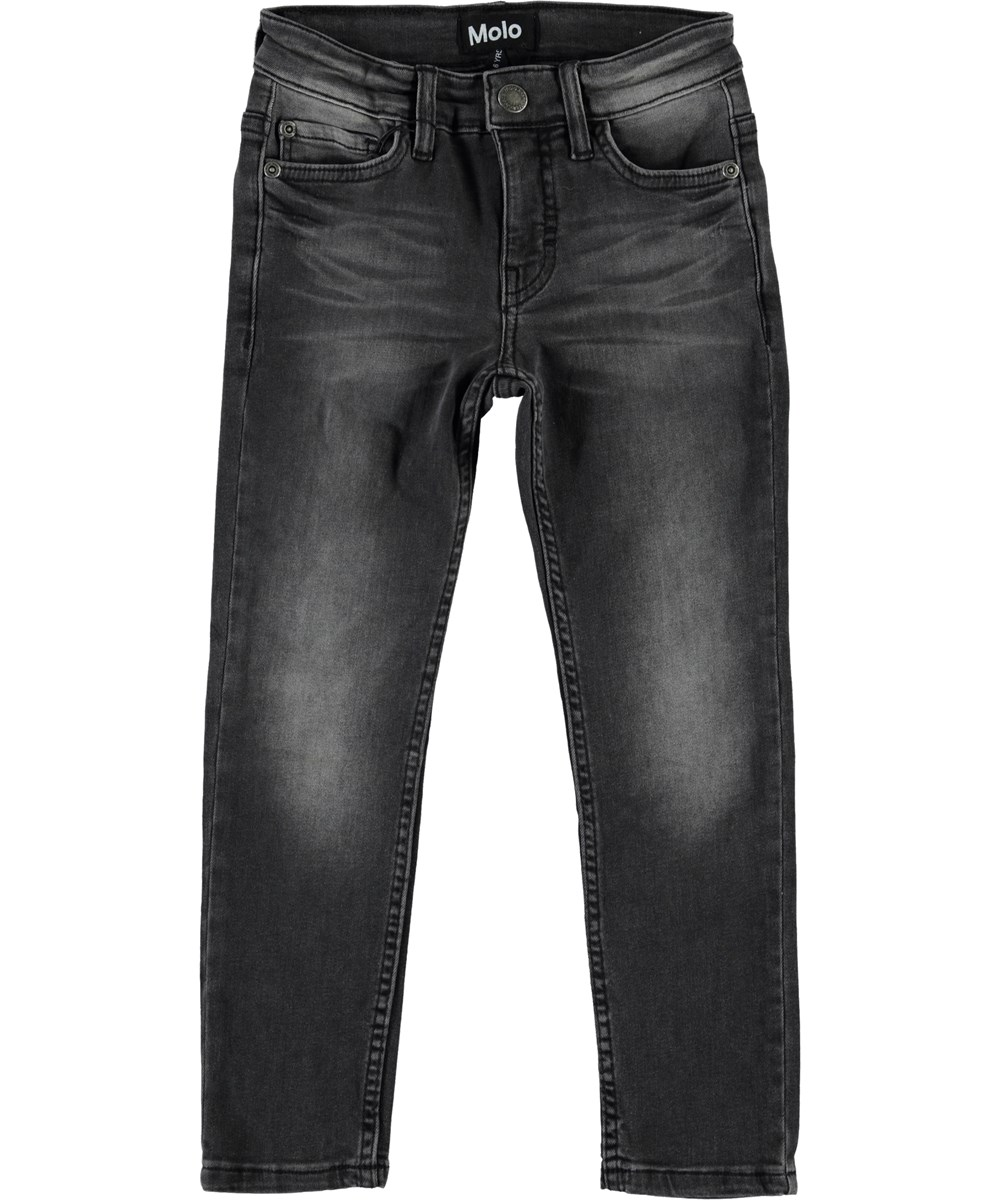 Aksel - Washed Black - Slim fit grey denim jeans.