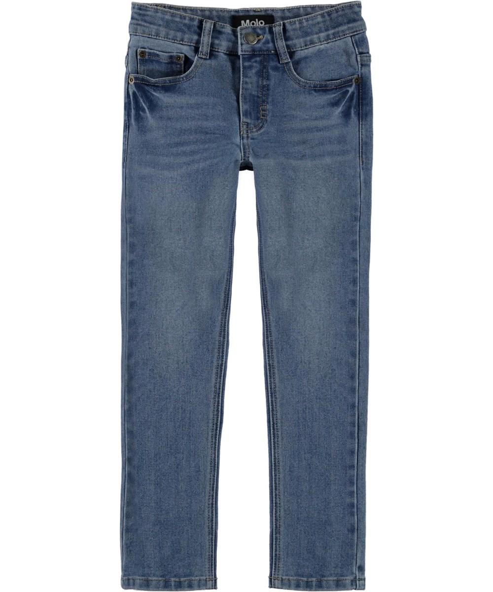 Aksel - Washed Blue - Slim fit blue jeans