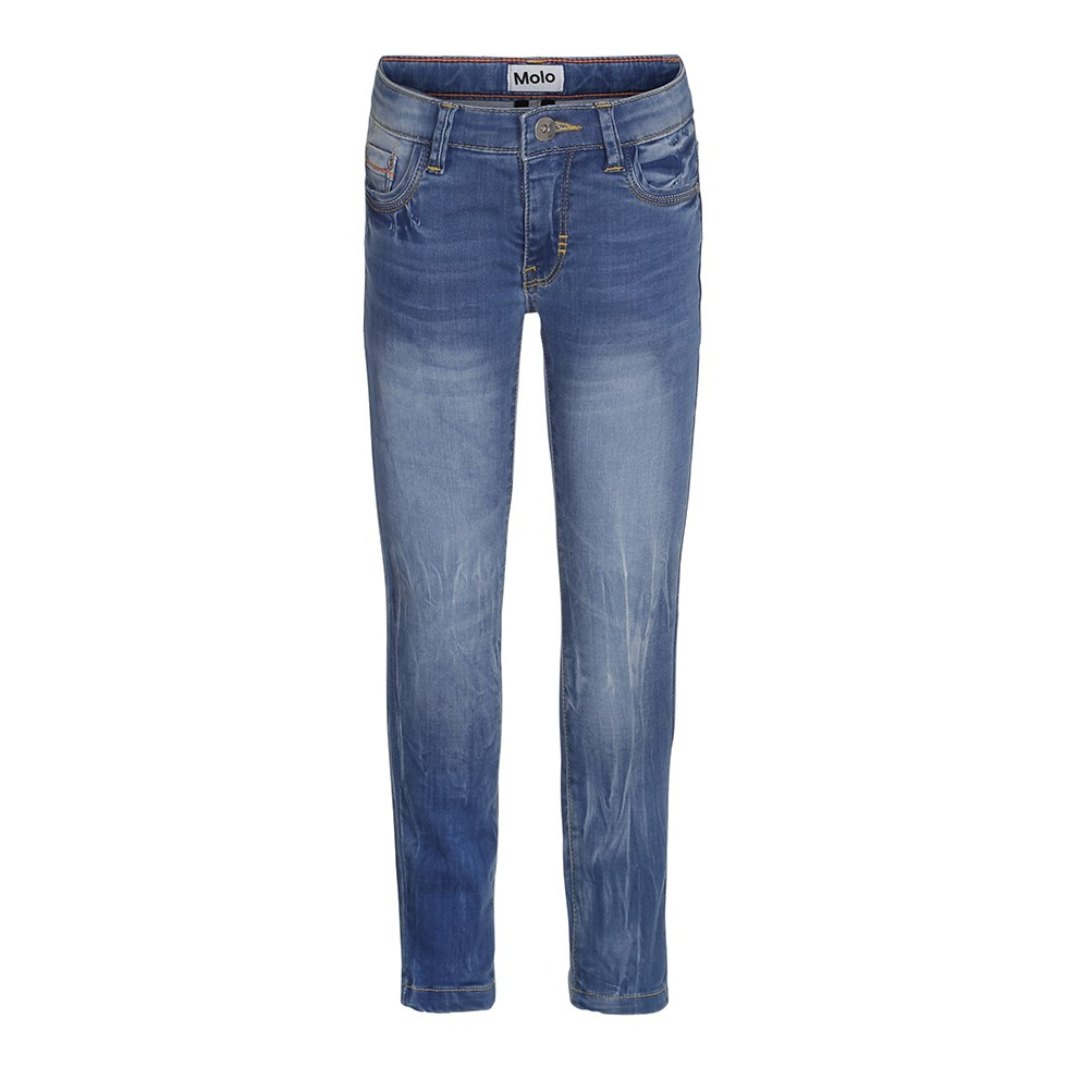 Aksel - Washed Indigo - Blue slim fit jeans in a washed look