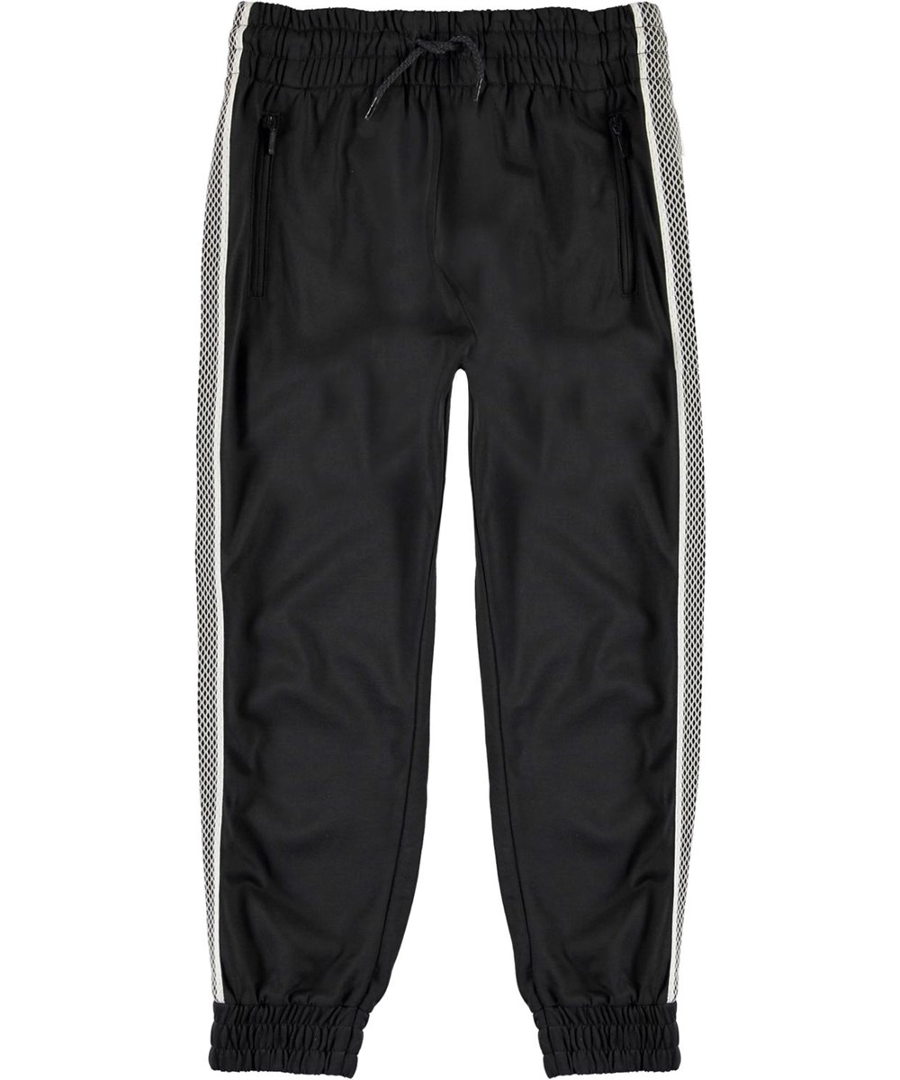 Albie - Night Grey - Dark grey track pants with white stripe