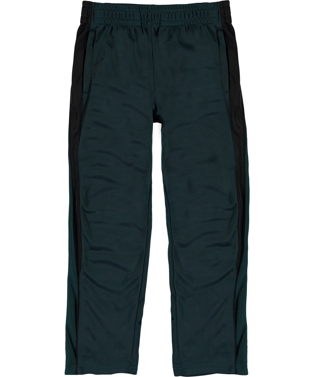Almo - Night Forest - Dark green track pants with stripes