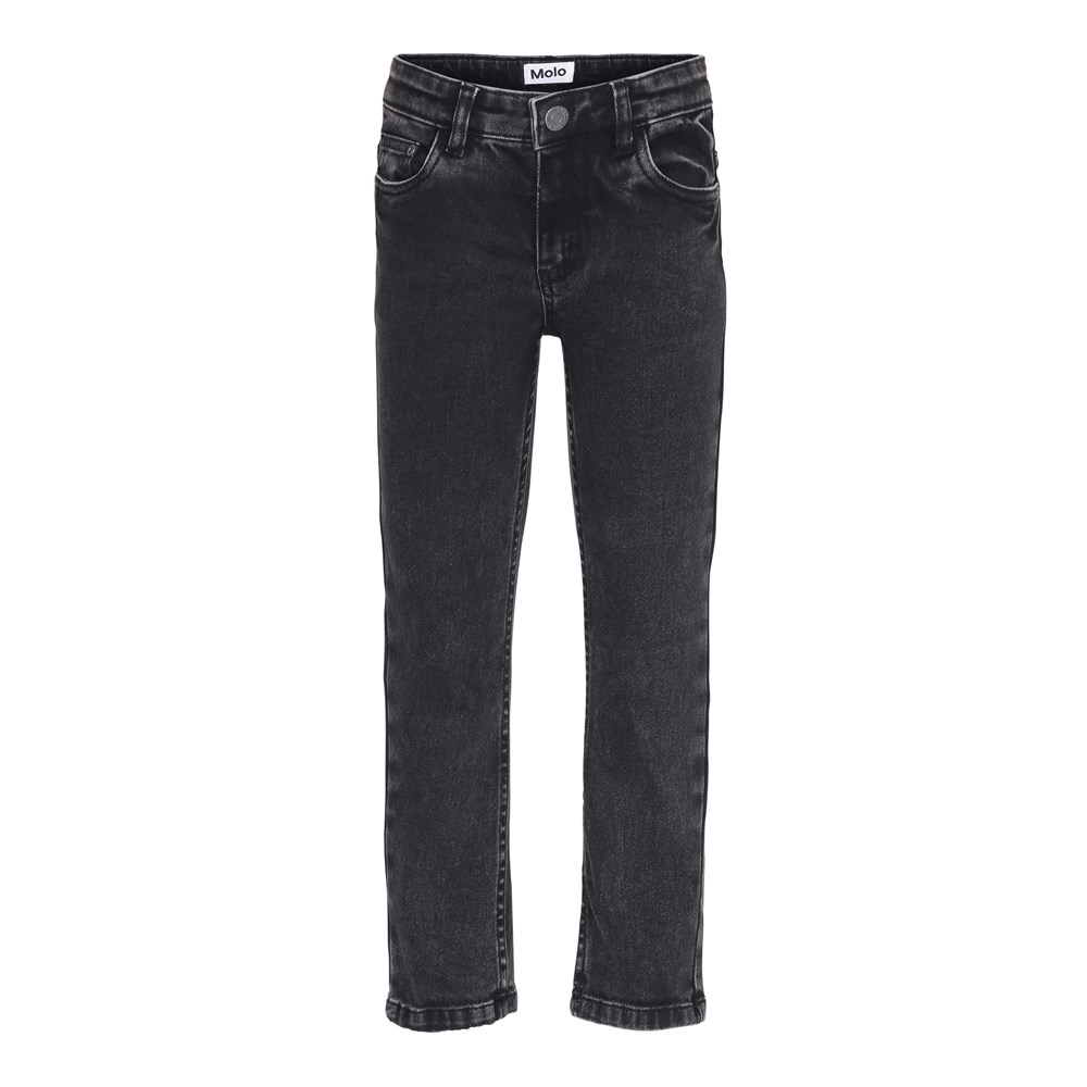 Alon - Stone Washed Black - Black denim jeans in a washed look