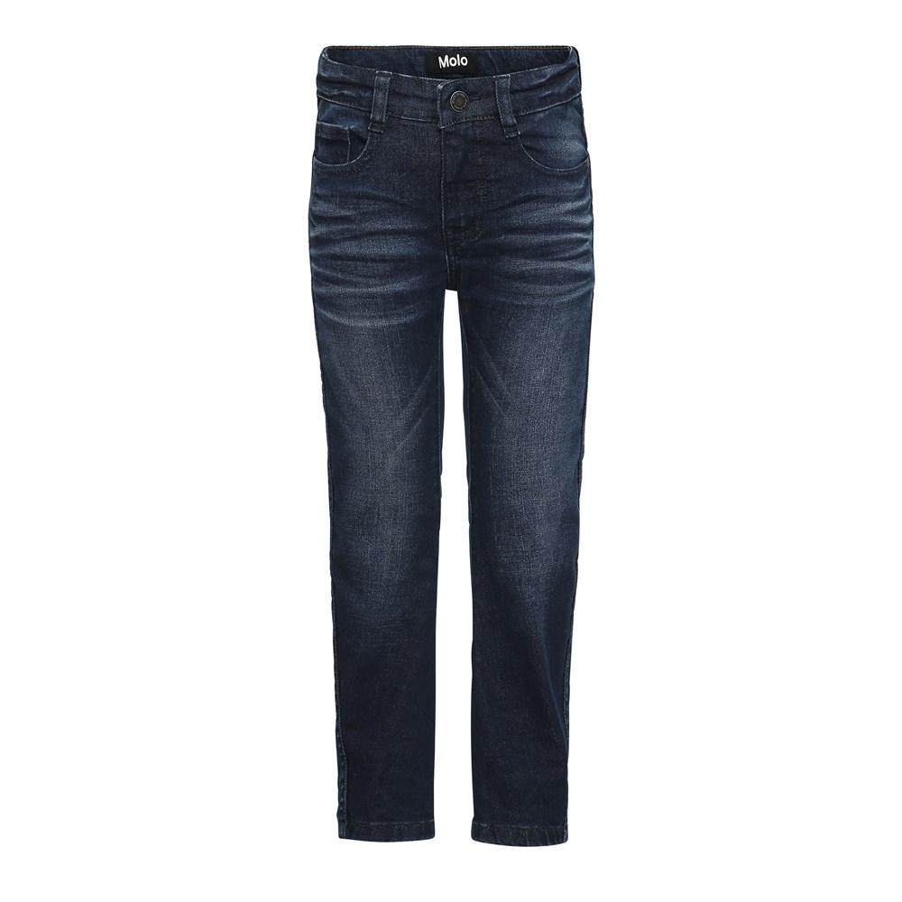 Alonso - Dark Indigo - Dark blue washed denim jeans.