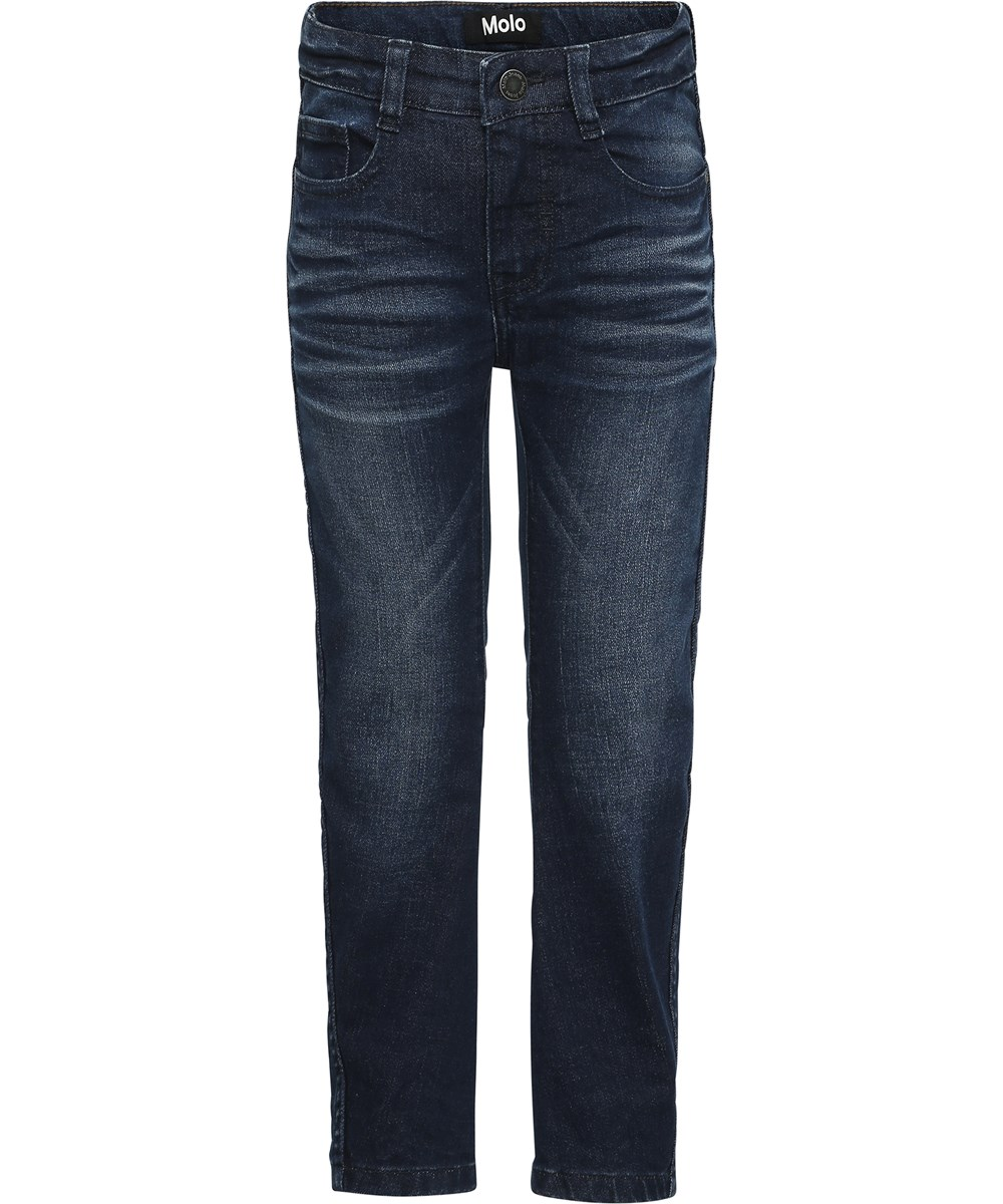 Alonso - Dark Indigo - Dark blue washed denim jeans.