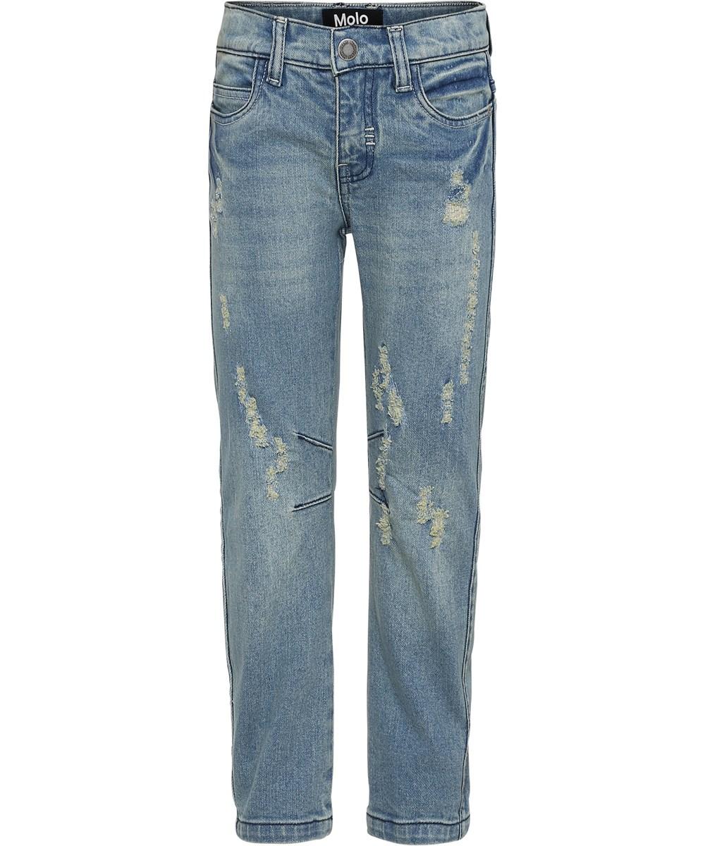 Alonso - Hv_Washed Denim - Blue distressed denim jeans