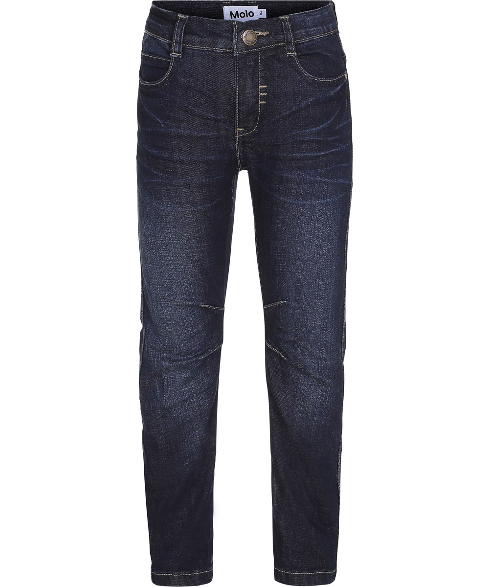 Alonso - Vintage Denim - Dark blue denim jeans in a biker look