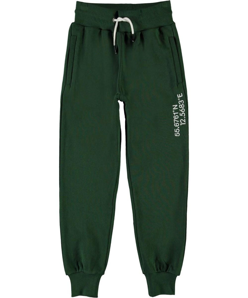 Alvar - Eden - Green organic sweatpants with coordinates