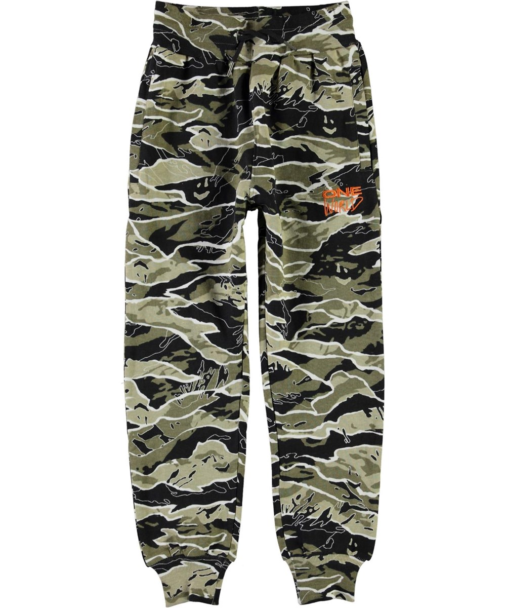 Alvar - Happy Camo - Organic trousers in a camouflage print