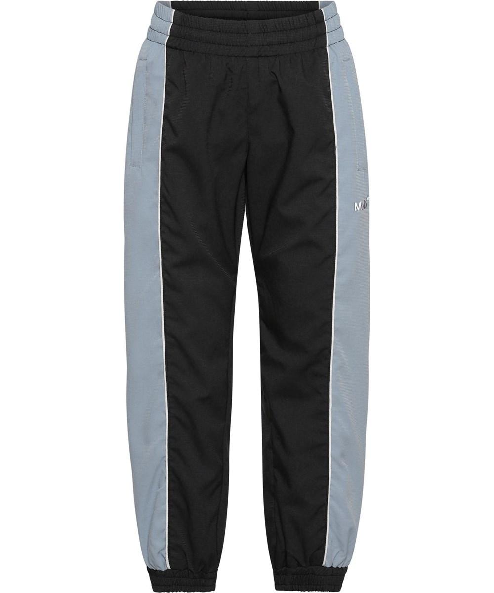 Alyxo - Aero - Black track pants with light blue sides