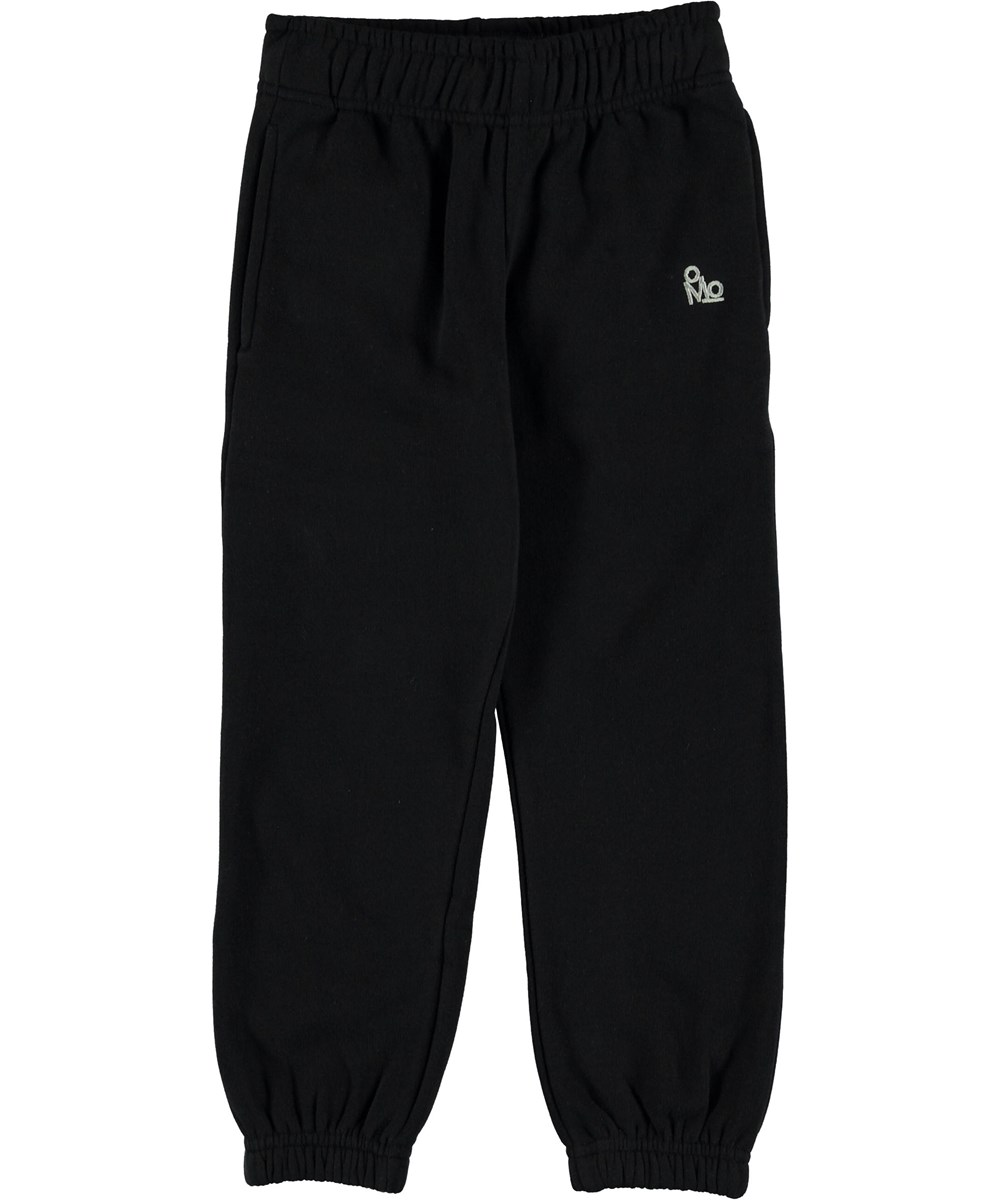 Am - Black - Sweatpants black sporty trousers.
