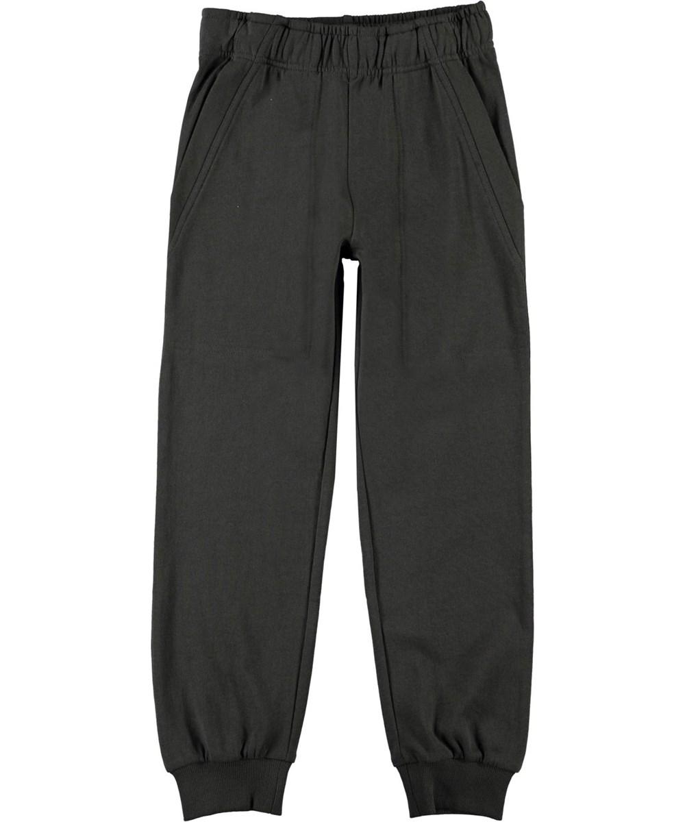 Ame - Beluga - Black organic sweatpants