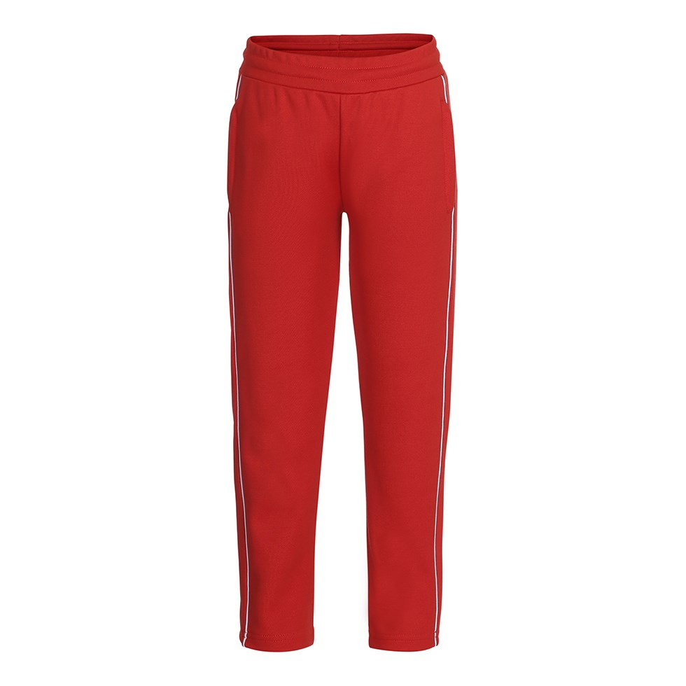 Ami - Heart - Red track trousers with white stripes