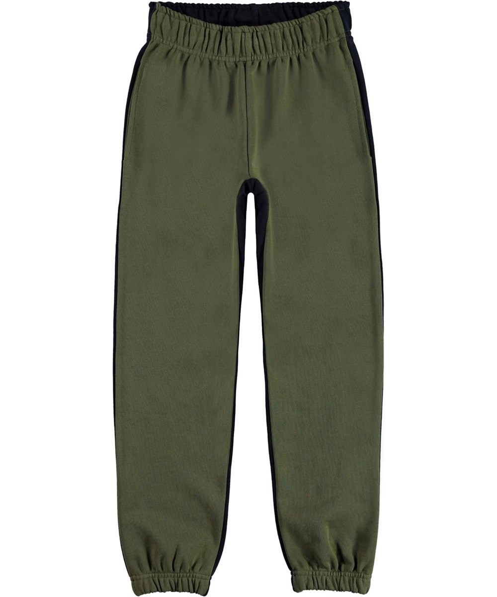 Amse - Duo - Two-coloured organic sweatpants in green and blue