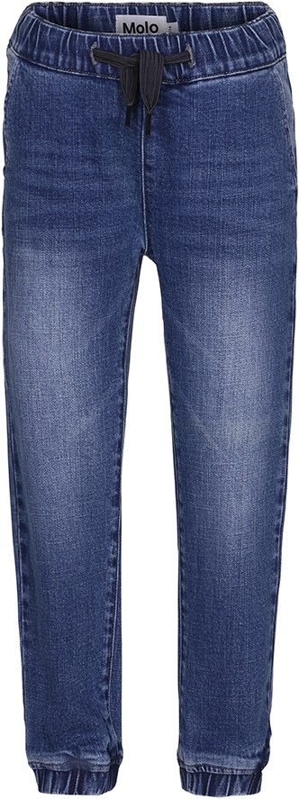 Andrei - Stone Blue - Blue baggy jeans with elastic waist