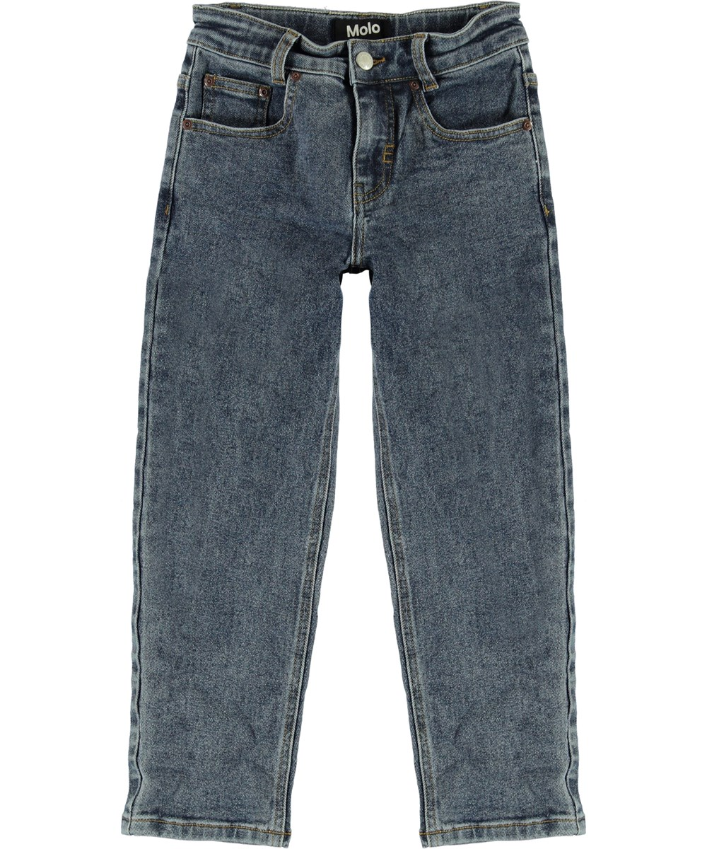 Andy - Stone Blue - Stone blue, wide denim jeans