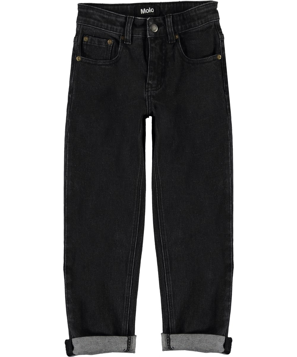 Andy - Washed Black - Wide black jeans